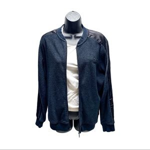 Puma Black Terry Cloth Zip Up Sweater Woman's XL